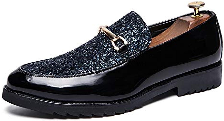 Business Oxford da Uomo Casual Casual Casual Trend Anteriore Fibbia in Metallo Decorazione Tacco Piatto Slip On Scarpe Formali... | Nuovo Stile  | Scolaro/Ragazze Scarpa  8b923b