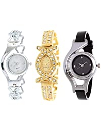 Watch City Analogue Multi Color Dial Watch for Girls Pack of 3 Combo Watch