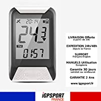 iGS130 - Compteur de Vélo GPS Simplifié - Vitesse odomètre IPX7 rétroéclairé Cardio Nouveau iGS20E