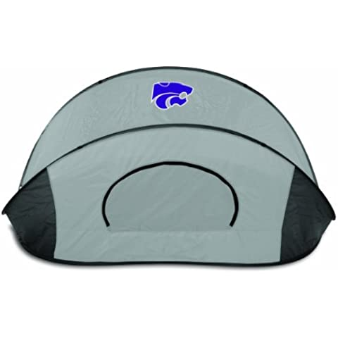 NCAA Kansas State Wildcats Manta Portable Pop-Up Sun/Wind Shelter by Picnic Time - Kansas State Wildcats Mesh