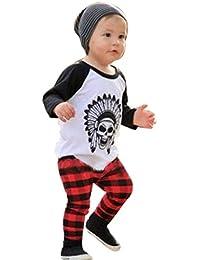 RETUROM caliente nueva 1Ponga niño infantil de los bebés imprimió la camiseta tops + Pants Conjuntos de ropa