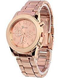winwintom Unisex acero inoxidable cuarzo reloj de pulsera Oro rosa