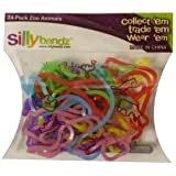 Colorful Silly Bandz Die-Molded Zoo Animals - 24 Pack - Kids Everywhere Are Going Wild (Ages 5+) Jouets, Jeux, Enfant, Peu, Nourrisson
