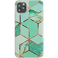 Oihxse Compatible para iPhone 11 2019 6.1\'\' Funda de Mármol Cristal Patrón Suave Silicona TPU Flexible Gel Protectora Carcasa Ultra Fina Anti Choque Protección Cubierta Caja (Verde marmol)