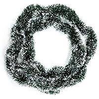 Heitmann Deco Tannengirlande - grün mit weißen Spitzen - für Innen - natürliche Deko - Dekogirlande - Weihnachtsgirlande
