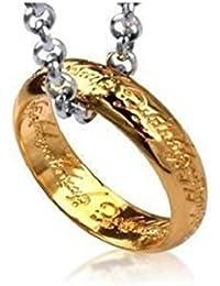Bentley's Bargain Warehouse - Señor de los anillos / collar y dije anillo chapeado oro 18ct el hobbit con cadena 70cm