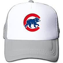 huseki wulinn Chicago Cubs Malla Trucker tiene Outdoor Adjustable Gorra de béisbol for Unisex Ash
