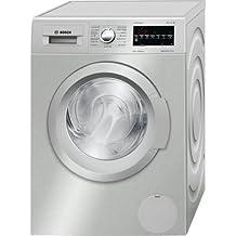 Bosch WAT2848XES Independiente Carga frontal 8kg 1400RPM A+++-30% Plata, Color blanco - Lavadora (Independiente, Carga frontal, Plata, Blanco, Izquierda, LED, Acero inoxidable)