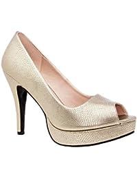 Andres Machado.AM5003.Peep-Toes en Soft.Pour Femmes.Petites et Grandes Pointures de la 32/35-42/45.