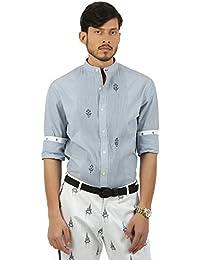 House of Three Men's Plain Slim Fit Cotton Dress Shirt