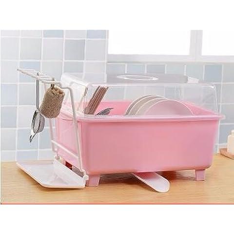 AQPDJ AQPDJ Rey w/cubierta suministros de cocina cuencos con agua Lek Yuen-filtros de agua para admitir la cesta en el disipador vajillas armario rack , Cuenco de plástico