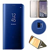 Funda para Samsung Galaxy S9 Cover Samsung Galaxy S9 para Samsung Galaxy S9 Carcasa,QianYang Transparente Claro Transparente Teléfono Funda PU Cuero y TPU Gel de Sílice Cáscara del teléfono móvil