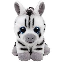 TY - Beanie Babies Stripes, peluche zebra, 15 cm (United Labels Ibérica 41198TY