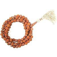 Mogul Interior Meditation Necklace Surya Mala- Sunstone for Awakening Chakra Kundalini Yoga Necklace 108+ Prayer Beads