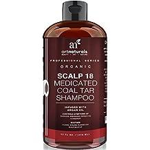 Champú anticaspa terapéutico. Tarro de carbón ArtNaturals Scalp18 16 oz.