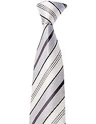 Krawatte von Mailando, mit Streifen, div. Farben schwarz, rot, grün, rosa, …