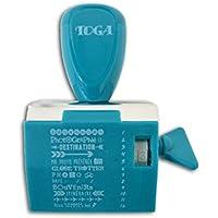 Toga Tampon à Messages avec 12 Expressions Voyages, Plastique, Bleu, 9,5 x 14,5 x 3 cm