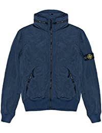 Stone Island Jacket - Spring Summer 2018 Junior Navy Nylon Metal Bomber Jacket – RRP £275 (681641535 V0020)