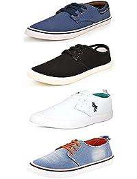 SCATCHITE Men's Canvas Combo Of 4 Casual Shoes