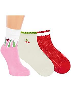 Vitasox Kinder Socken Baumwolle Mädchen Kindersöckchen bunt ohne Naht 3er und 6er Pack