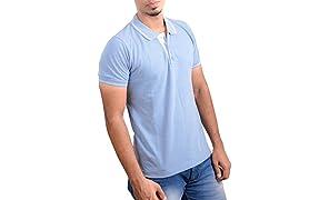 Ruffty Mens Cotton Polo,Collar Half Sleeve Tshirt