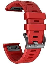 NotoCity Correa de Silicona 26 mm Compatible con Garmin Fenix 3 / Fenix 3 HR Fenix 5X / Fenix 5X Plus/Pulsera Ajustable de Repuesto