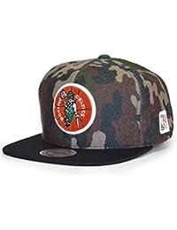 Mitchell   Ness Gorras Boston Celtics Flannel Camo Black Snapback a6aeb6ecebb