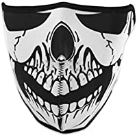 1 x protección contra el viento Reversible negro equipo de fútbol Sant Pauli Tribal media cara máscara facial con protección de neopreno correa de Velcro ajustable para motorista de carreras o el sistema de ventilación para moto bicicleta máscara facial talla única ...