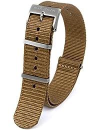 New item-marathon ww005023dt-22Watch Band/nato in nylon con fibbia quadrata. Desert tan- 22mm