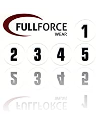 Full Force Wear 100noire Casque Numéros autocollants