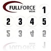 Full Force Wear 100black helmet number stickers