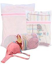 HOKIPO Microfiber Mesh Laundry Clothes Washing Bag - Pack of 3