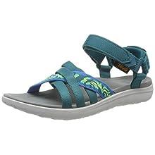 Teva Women's Sanborn W's Ankle Strap Sandals, Turquoise (Thena Deep Lake Mult 404), 7 UK