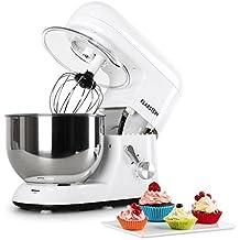 Klarstein TK1 Bella Bianca Robot de Cocina • Multifunción • Batidora, Picadora, Amasadora •