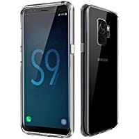 Galaxy S9 Hülle - vau Hybrid Schutzhülle transparent - Handy Schutz-Tasche kombiniert Hard-Case mit Silikon Bumper (einteilig clear)
