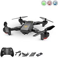 4.5 Kanal RC ferngesteuerter Quadcopter mit FPV Wifi 720p HD-Kamera mit Live Übertragung, Drohne Auto Abheben/Landen,Höhenbarometer, Rückholmodus, App-Control und weitere Funktionen, Crash-Kit