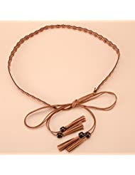 WZW Bonbon cravate chaîne à la taille longue frangée