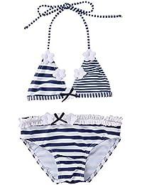 IPBEN Conjuntos bebé Bañador bebé Bañadores de Verano para Niñas Tassel Conjunto de Bikini Traje de Baño de Nylon para Chicas 3 Años -12 Años Amlaiworld