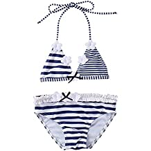645affc3a IPBEN Conjuntos bebé Bañador bebé Bañadores de Verano para Niñas Tassel  Conjunto de Bikini Traje de