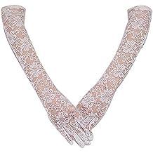 OULII De Novia de encaje largo guantes guantes de vestido de novia para la decoración de