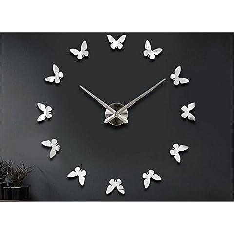 GYN Continental creativa acrílico reloj DIY mariposa minimalista pared pegatina reloj artística decoración decoración casa decoración ,