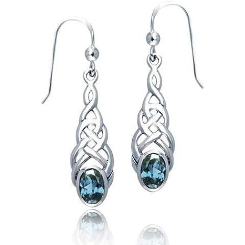 Bling Jewelry Orecchini celtica Knotwork Ovale Diamante Sterling Silver ciondola - Knotwork Ciondola
