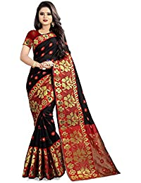 Anghan Brothers Women's Cotton Saree With Blouse Piece | women sarees sarees 2019 | kanjivaram silk saree pure (cotton_banarsi saree_flower)