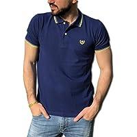 CONSENSO Polo Uomo T-Shirt Mezza Manica TG. M, L, XL, XXL, XXXL - Colori Assortiti (L, Blu Medio)