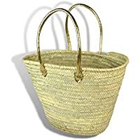 Large Moroccan Shopping Basket - long gold Leather Handles - W56 D20 H34 -. by MAISON ANDALUZ  sc 1 st  Amazon UK & Amazon.co.uk: MAISON ANDALUZ - Shopping Baskets / Shopping Bags ... azcodes.com