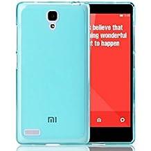 Prevoa ® 丨 FUNDA de GEL TPU SILICONA para XIAOMI HONGMI REDMI NOTE 5.5 Pulgada Android Smartphone + Protector Pantalla - Azul
