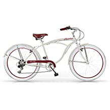 MBM Honolulu Bicicletta, Uomo, Avorio, 47Cm