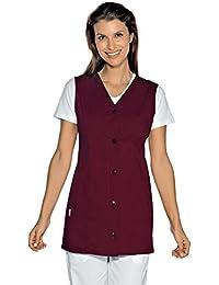 Isacco-túnica médica Tropea sin Mango, Color Burdeos