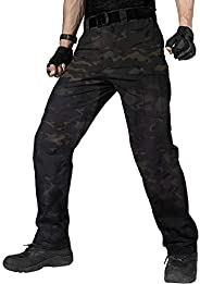 FREE SOLDIER Men's Water Resistant Pants Relaxed Fit Tactical Combat Army Cargo Work Pants with Multi Po