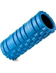 Rodillo de espuma para puntos gatillo - Para masajes musculares, de tejido profundo y liberación miofascial - Para rehabilitación, gimnasio, CrossFit, yoga y pilates - Garantía de por vida (Azul con interior negro)